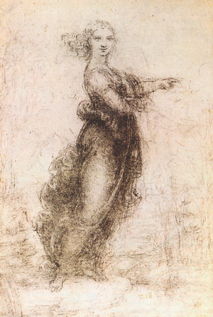 Leonardo Da Vinci - The pointing Lady