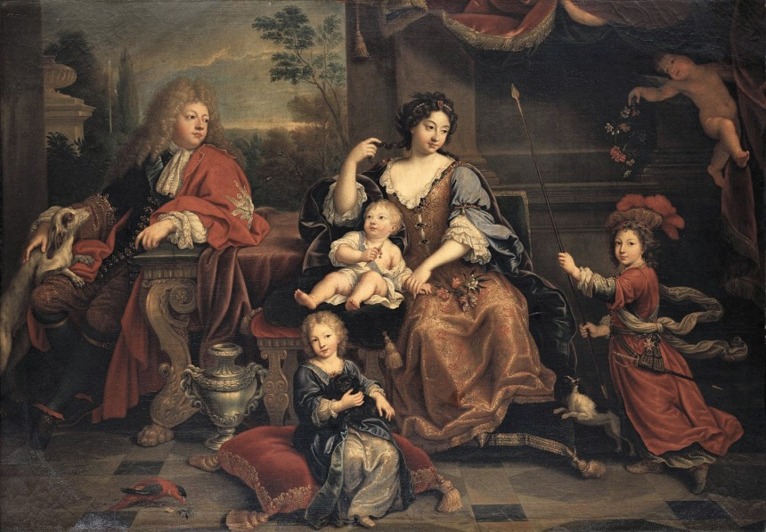 Louis, the Grand Dauphin of France, with his family
