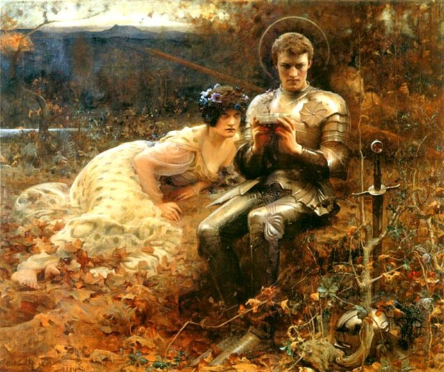 Arthur Hacker - Temptation of Sir Percival