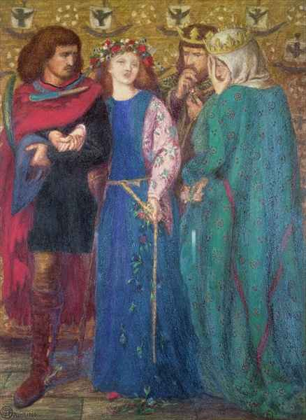 Dante Gabriel Rossetti - Horatio Discovering The Madness Of Ophelia