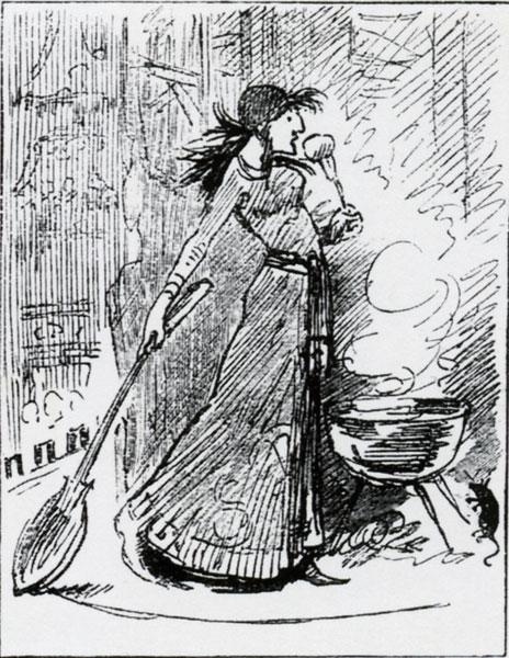 Harry Furniss - Sarah B. in a New Piece