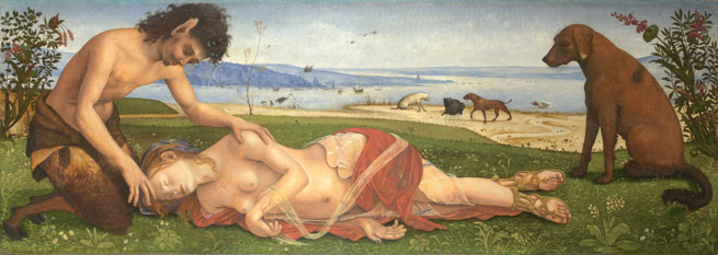Piero De Cosimo - Satyr mourning over Nymph