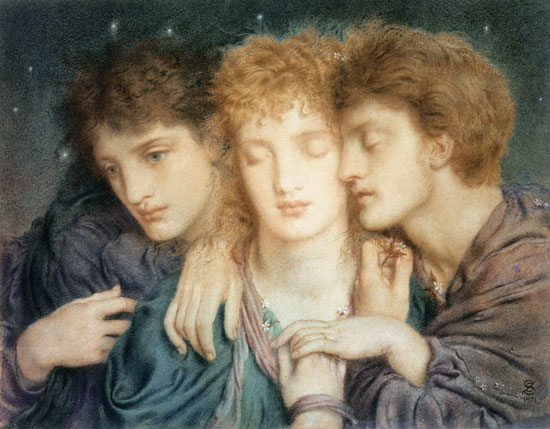 The Sleepers and the one that Watcheth -Simeon Solomon