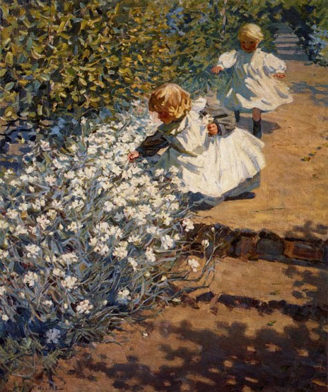 Helen Galloway McNicoll - Picking Flowers
