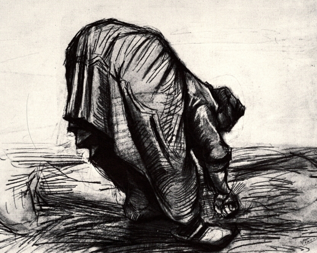 Peasant Woman, Stooping, Seen from the Back - 1885