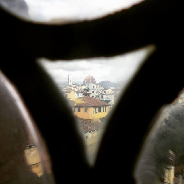 Florence from the Pitti Palace - Glass, Squared