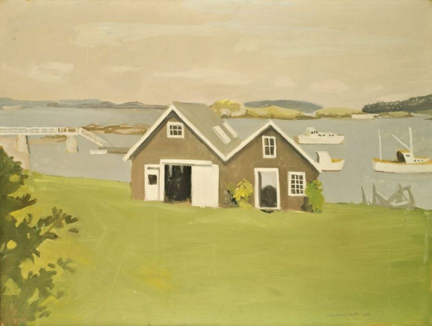 FAIRFIELD PORTER, BOATHOUSES, 1961