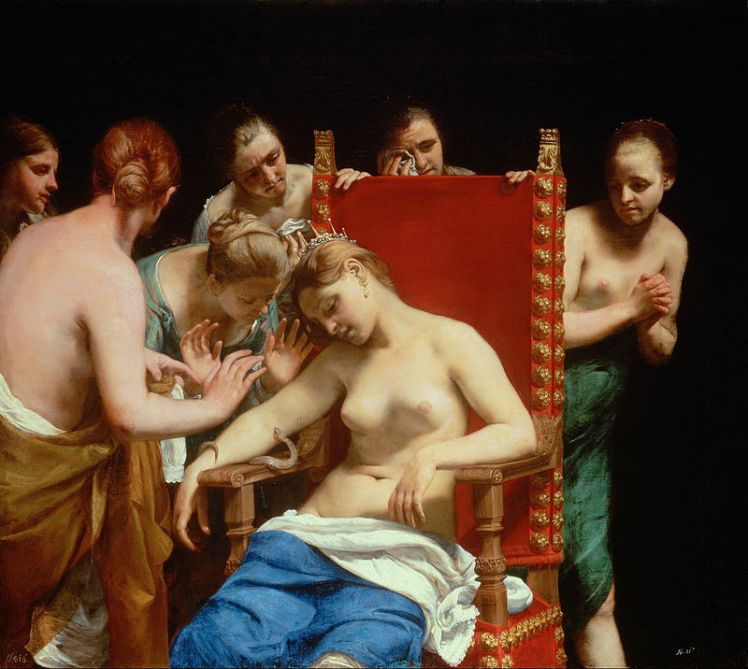Guido_Cagnacci,_called_Guido_Canlassi_-_The_Death_of_Cleopatra_-_Google_Art_Project